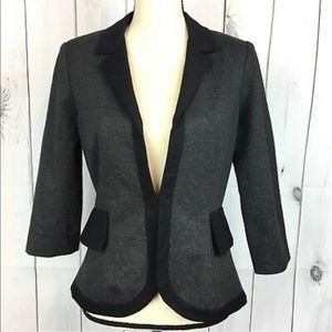 Anthropologie Cartonnier Gray Black Peplum Blazer